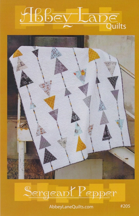 "60/"" x 72 DIY Sergeant Pepper Quilt Kit Pattern /& Fabrics for Quilt Top Binding"