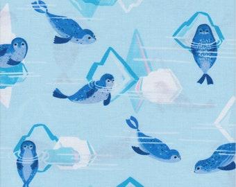 Arctic Playground by Katy Tanis, Blend Fabrics, Seal & Iceberg Print