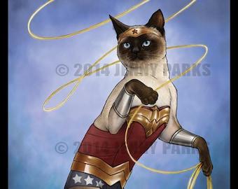Wonder Cat 4x6 Postcard