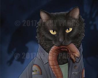 """Ripley Cat 8.5""""x11"""" Print"""