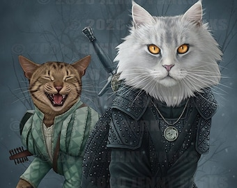 The Whisker (Witcher Cat) 11x17 Poster