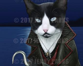 """Hook Cat - Killian Jones OUAT 8.5""""x11"""" Print"""