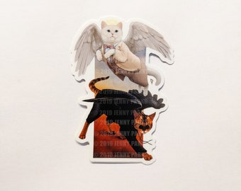 Good Omens Cats Sticker