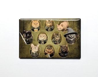 Cat of the Rings Fridge Magnet