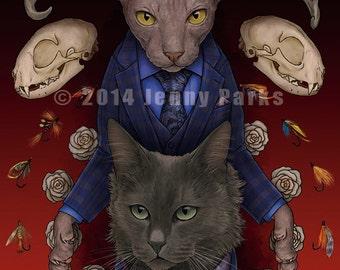 Hannibal Cats 4x6 postcard