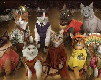 Firefly Cats 11x17 Poster