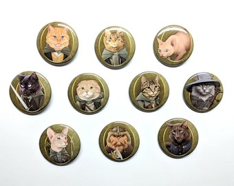 """Cat of the Rings 1.5"""" pinback button"""