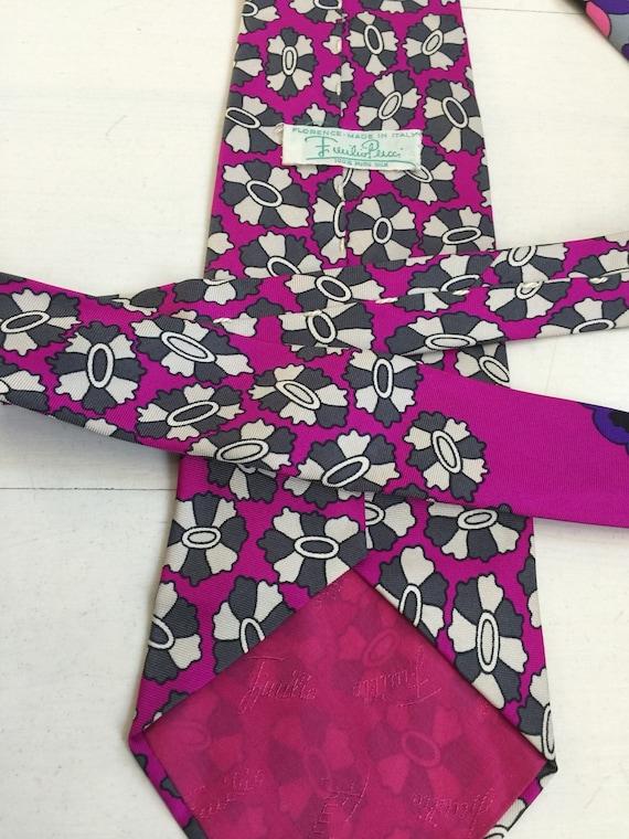1970s Emilio Pucci Silk Necktie