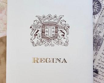 LETTER WRITING SET, Italian Stationery, Kartos Regina, Writing Paper Set, Cotton Stationery, Letter Paper, Fine Stationery, Letter Writing