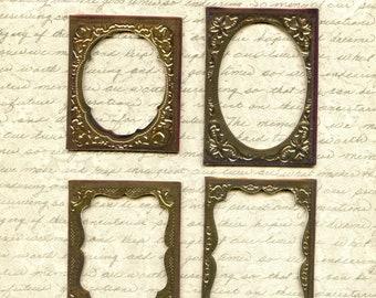 Ideaology CURIO FRAMES, Tim Holtz Frames, Baseboard Frames, Vintage Style Craft Frames, Ideaology Frames, Antique Gold Craft Frames
