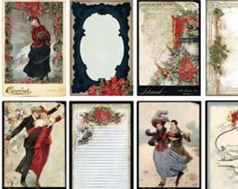 Yuletide EPHEMERA, Blue Fern Yuletide Bits Bobs, Christmas Die Cuts, Victorian Christmas Die Cuts, Christmas Ephemera, Blue Fern Studios