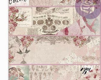 Love Story PAPER PAD, Prima Love Story, Love Story 6 X 6 Pad, 6 X 6 Card Stock, Distressed Card Stock, 6 X 6 Paper, 6 X 6 Paper Pad