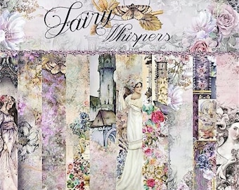 Blue Fern Studios FAIRY WHISPERS, Fairy Cardstock, Medieval Cardstock, Fantasy Cardstock, Victorian Cardstock, Jen Bishop Fairy Whispers