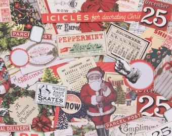 christmas ephemera pack tim holtz christmas christmas die cuts retro christmas die cuts vintage christmas ephemera ideaology festive - Vintage Christmas Pictures