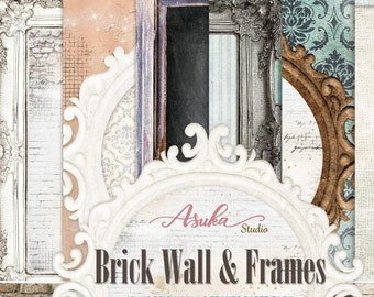Frames CARD STOCK, Frames Walls Cardstock, Brick Walls Frames, Vintage Frames Cardstock, Cardstock Frames, Memory Place, Wall Print Paper
