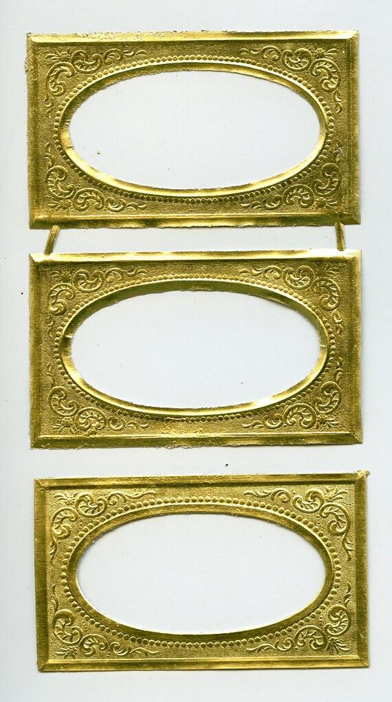 DRESDEN FRAMES Gold Dresden Frame Gold Foil Frames Tiny | Etsy