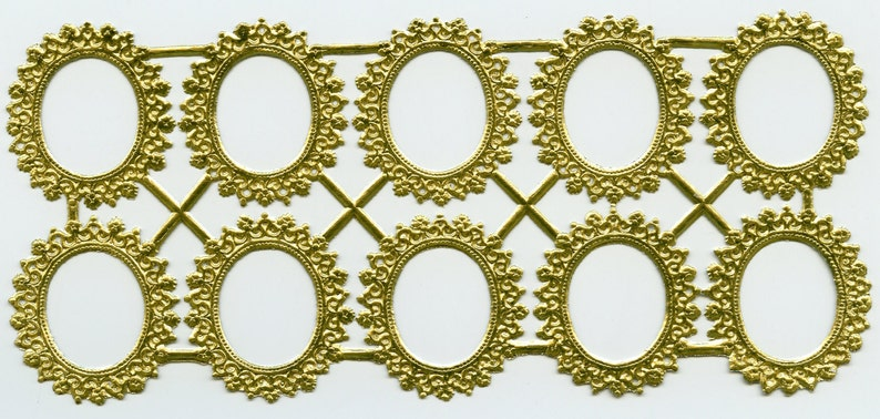 6f45da8d562 Oval DRESDEN FRAMES Oval Paper Frames Dresdens Gold Foil