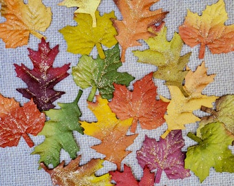 FALL LEAVES, Fall Paper Leaves, Autumn Mulberry Leaves, Fall Mulberry Leaves, Paper Maple Leaves, Oak Paper Leaves, Paper Leaves, Autumn