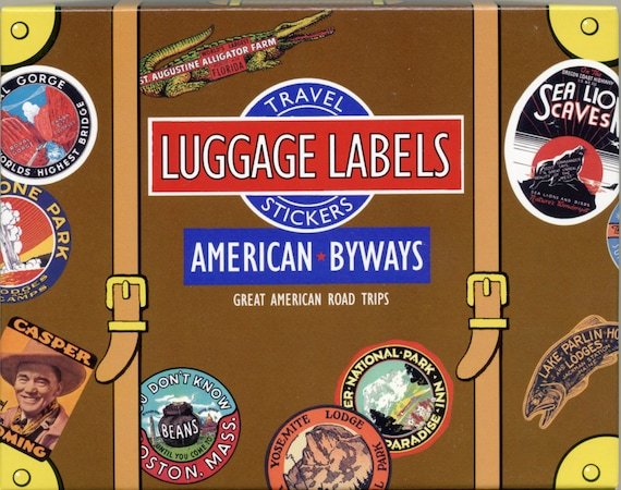travel stickers luggage stickers luggage labels vintage etsy