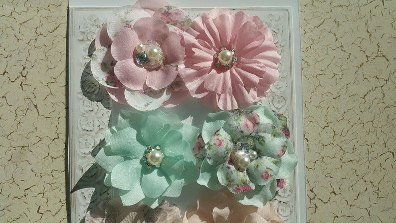 Prima Misty Rose Prima Flowers Flowers with Pearls Misty Rose Flowers Pastel Flowers Pearl Embellished Flowers Pastel FABRIC FLOWERS