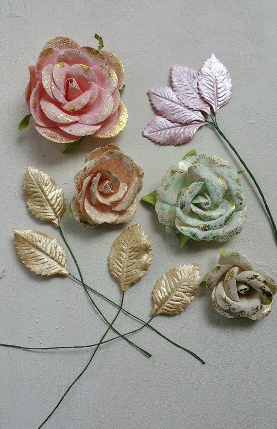 Pastel paper flowers pastel mulberry flowers prima flowers etsy image 0 mightylinksfo
