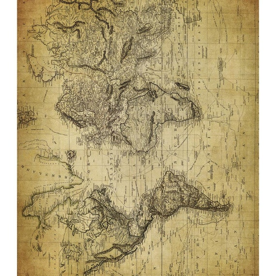 DECOUPAGE PAPER Antique Map Decoupage Paper Old Map | Etsy