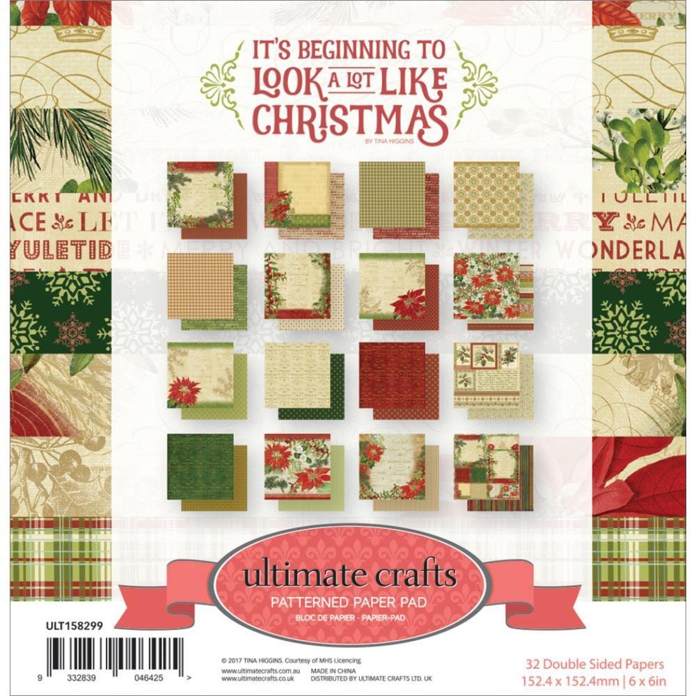 CHRISTMAS PAPER PAD 6 X 6 Christmas Card Stock Vintage | Etsy