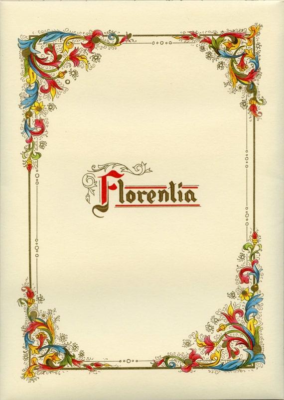 Florentine STATIONARY - Italian Stationary - Kartos Stationary - Letter Paper - Florentine Writing Paper - Fine Stationary