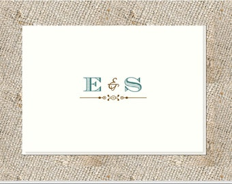Couples Folded Notes or Cards - 25 notes & envelopes