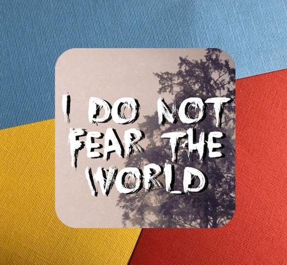 I Do Not Fear The World Vinyl Sticker Square Travel Sticker Etsy