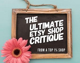Ultimate Etsy Shop Consulting and Shop Critique Package - Tags Titles Shop Description Listing Descriptions and More, Etsy Shop Makeover SEO