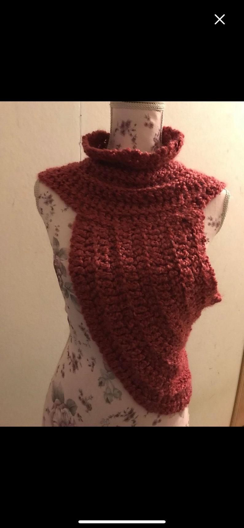 Crochet Katniss from hunger games inspired one shoulder vest.