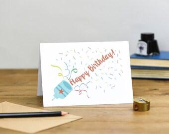 Happy Birthday Party Popper Card