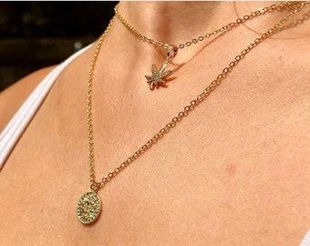 14k Gold Zodiac Necklace, zodiac sign jewelry, astrology, gold filled jewelry, gold zodiac necklace, layering necklace, boho jewelry