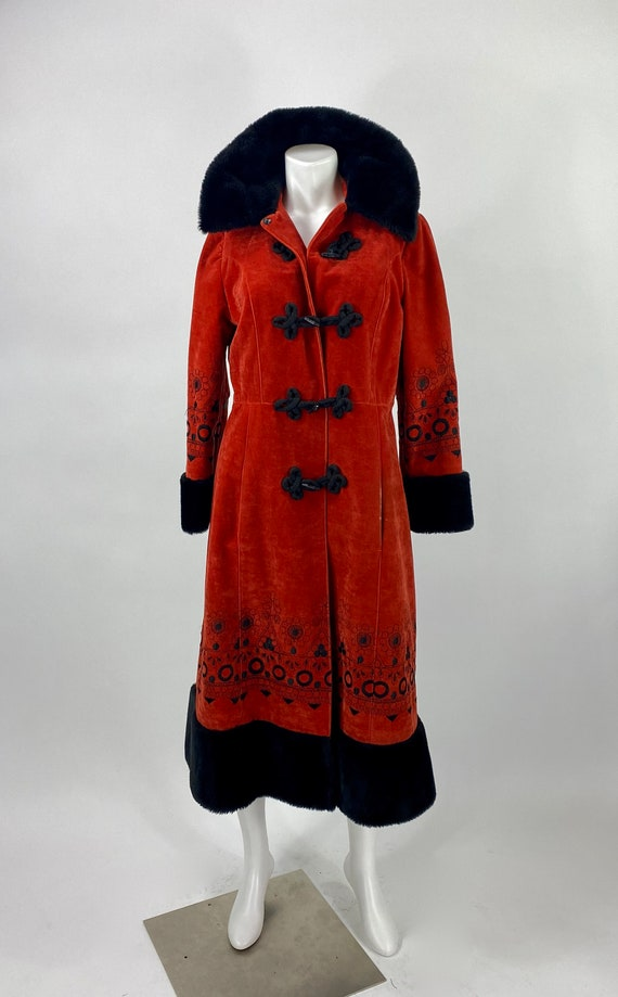 Vintage Russian embroidered  princess style coat /