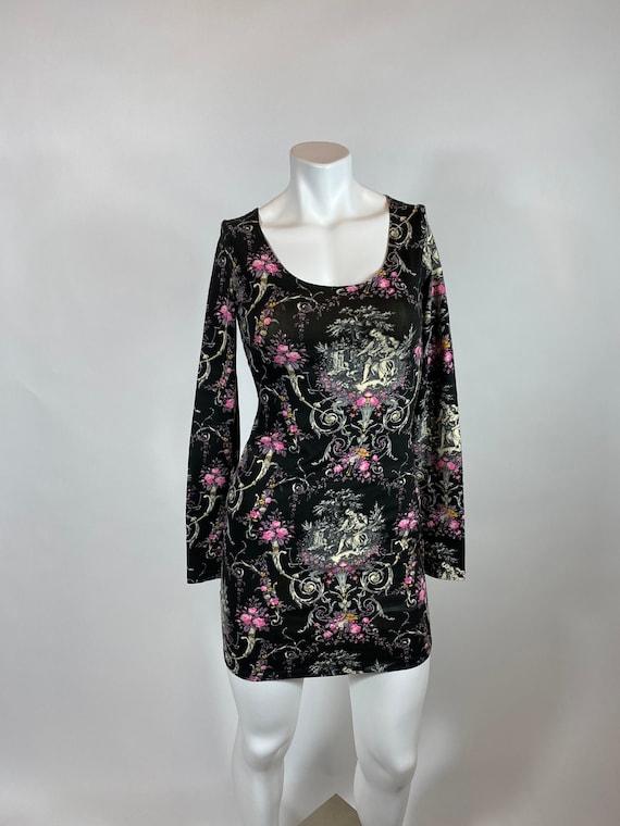 Betsey Johnson Bustle Dress Baroque Print/Art Deco