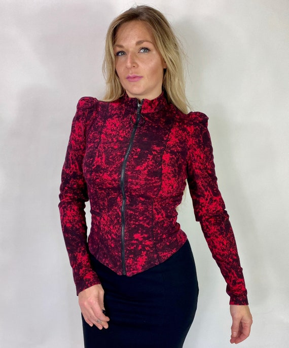 Betsey Johnson Victorian style Goth jacket Vampir… - image 4