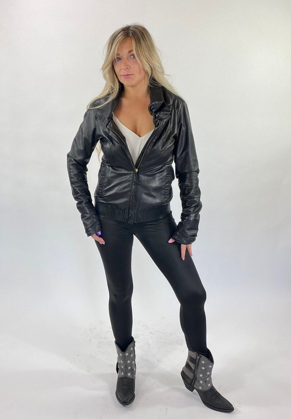 Black Leather Jacket by Mike and Chris Genuine Lea