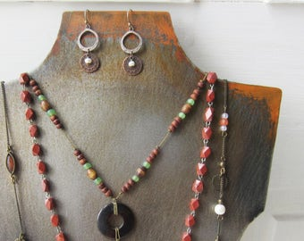 Metal Necklace Bust with Patina - Handmade from Steel - Rustic Necklace & Earring Jewelry Display - Sturdy and Stackable - Qty Ready to ship