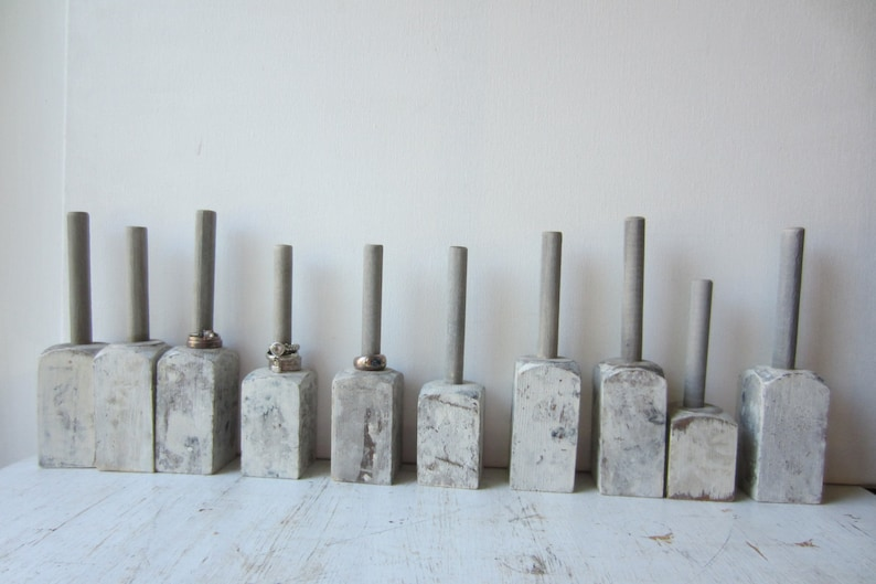 ONE Marbled Ring Holder Display Architectural Salvage Painted Gray Marbled Finish Quantities Available READY to SHIP Ring Organizer