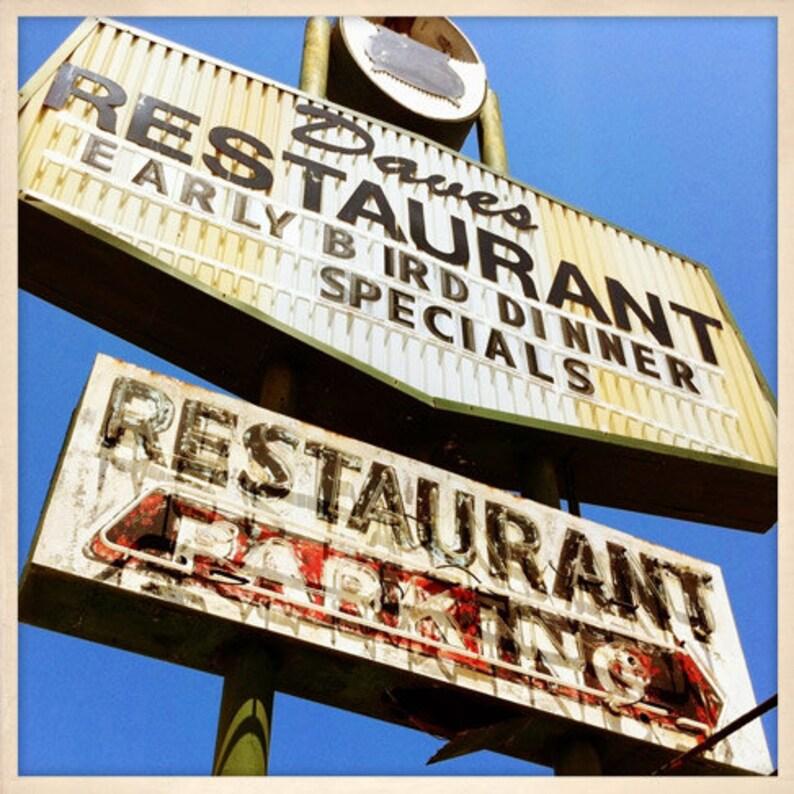 Daves Restaurant Sign St. Petersburg Florida Photo Print  image 0