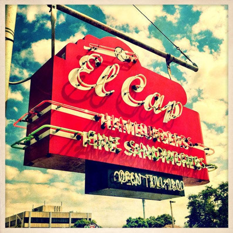 El Cap Restaurant Sign St. Petersburg Florida Photo Print  image 0