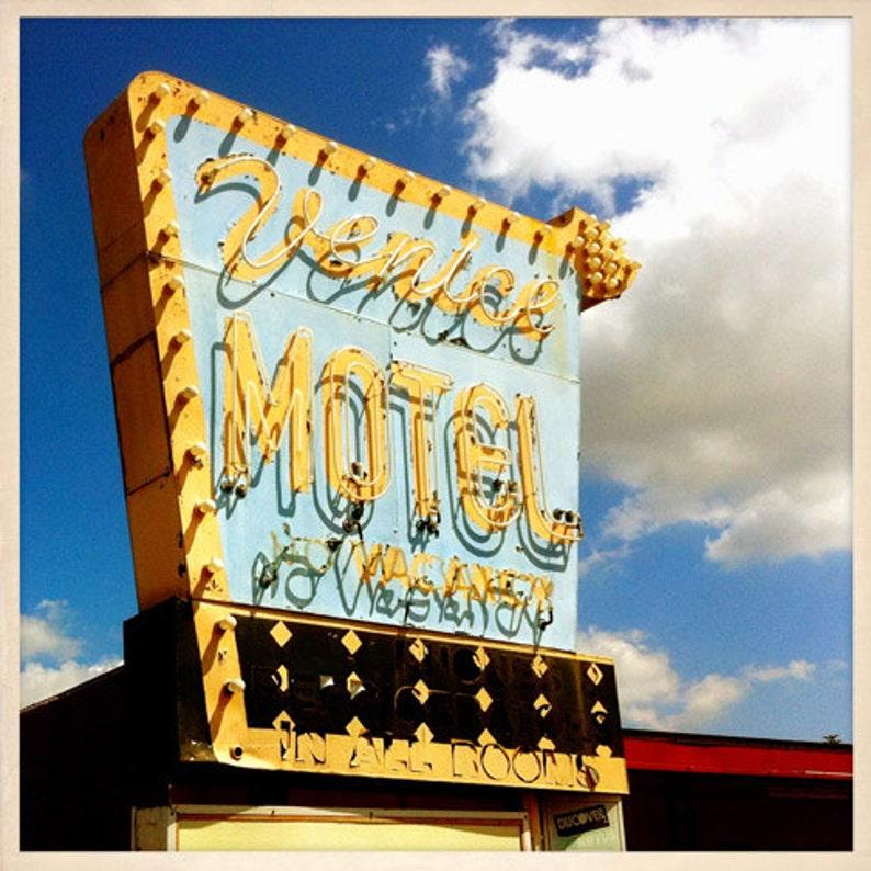 Venice Motel Sign St. Petersburg Florida Photo Print  image 0