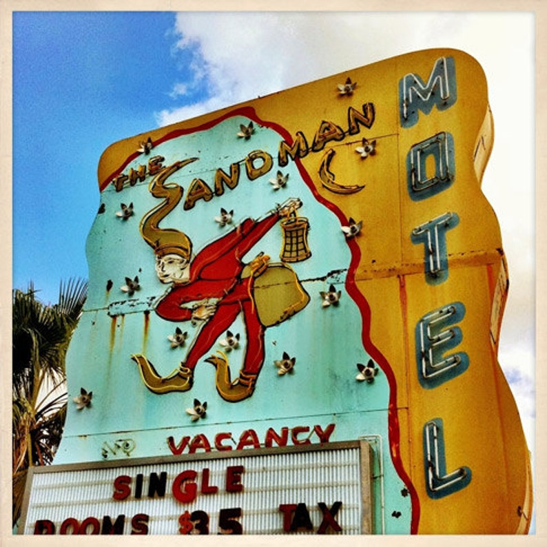 Sandman Motel Sign St. Petersburg Florida Photo Print  image 0