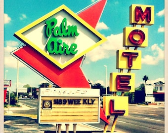 "Palm Aire Sign St. Petersburg, Florida Photo Print - 8"" x 8"""
