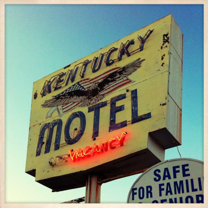 Kentucky Motel Sign St. Petersburg Florida Photo Print  image 0