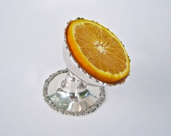 Vintage Silver Plate Grapefruit/Orange Serving Dish...Pivoting Bowl & Plated Tines....Quadruple Plate.... Wilcox Silverplate, Made in USA