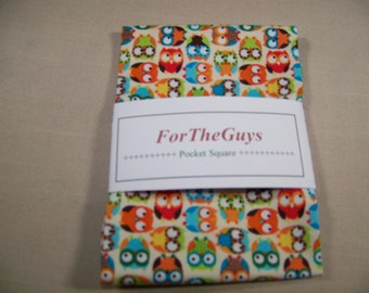 Men's Pocket Square - Owls Pocket Square - Cotton Men's