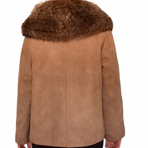 1960s Bonnie Cashin for Sills Suede Leather Fur C… - image 2