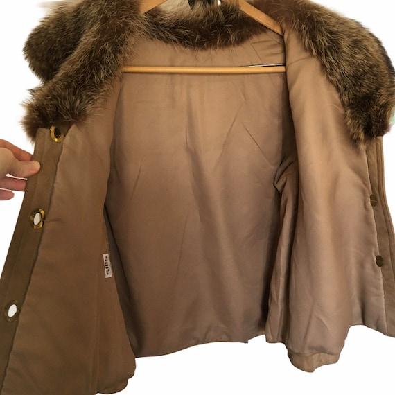 1960s Bonnie Cashin for Sills Suede Leather Fur C… - image 4